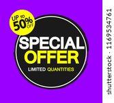 special offer  sale banner... | Shutterstock .eps vector #1169534761