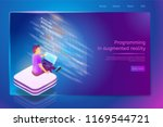 programing in augmented reality ... | Shutterstock .eps vector #1169544721