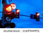 traffic lights over urban...   Shutterstock . vector #1169544991