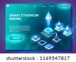 smart ethereum mining.... | Shutterstock .eps vector #1169547817