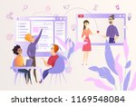 social network users activity... | Shutterstock .eps vector #1169548084