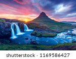 colorful sunrise on... | Shutterstock . vector #1169586427
