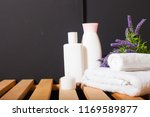 ceramic soap  shampoo bottles | Shutterstock . vector #1169589877