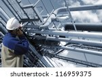 oil worker and pipelines | Shutterstock . vector #116959375