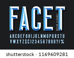original display font with... | Shutterstock .eps vector #1169609281