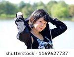 portrait of an asian woman in... | Shutterstock . vector #1169627737