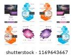 set of design of brochure ... | Shutterstock .eps vector #1169643667
