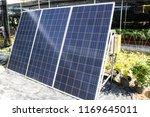 solar panel in the garden | Shutterstock . vector #1169645011