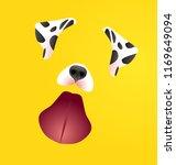dalmatian mask for halloween... | Shutterstock .eps vector #1169649094