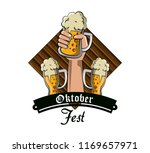 oktober fest card | Shutterstock .eps vector #1169657971