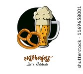 oktober fest card | Shutterstock .eps vector #1169658001