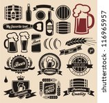 beer icons  labels  signs ... | Shutterstock .eps vector #116965957