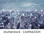 network connection activity in... | Shutterstock . vector #1169662324