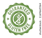 guaranteed gluten free label... | Shutterstock .eps vector #1169665564