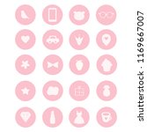 set of 20 vector icons in pink... | Shutterstock .eps vector #1169667007