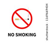no smoking forbidden sign ... | Shutterstock .eps vector #1169669404