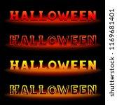 halloween holiday text message...   Shutterstock . vector #1169681401