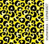 leopard print seamless pattern. ... | Shutterstock .eps vector #1169681827