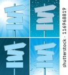 set of four road signs with... | Shutterstock .eps vector #116968819