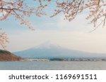 mt fuji. kawaguchiko.sakura.... | Shutterstock . vector #1169691511