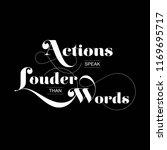 quote   actions speak louder... | Shutterstock .eps vector #1169695717