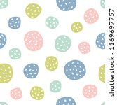 childish seamless pattern with... | Shutterstock .eps vector #1169697757
