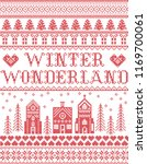 christmas pattern with winter... | Shutterstock .eps vector #1169700061