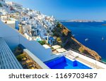 pool and a view sunny morning... | Shutterstock . vector #1169703487