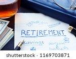 retirement plan handwritten on... | Shutterstock . vector #1169703871