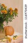 beautiful marigold bouquet and... | Shutterstock . vector #116970439