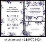 romantic wedding invitation... | Shutterstock . vector #1169705434