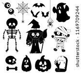 set of cartoon characters for... | Shutterstock .eps vector #1169709244