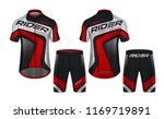 cycling jerseys mockup t shirt... | Shutterstock .eps vector #1169719891