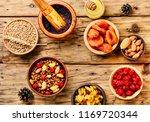 christmas porridge.kutya... | Shutterstock . vector #1169720344