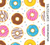 seamless colorful pattern with... | Shutterstock .eps vector #1169721781