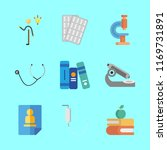 9 science icons set | Shutterstock .eps vector #1169731891