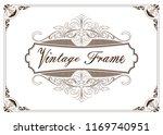 decorative frame in vintage... | Shutterstock .eps vector #1169740951