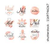 manicure nail studio logo... | Shutterstock .eps vector #1169746267