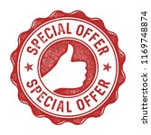 special offer vector label stamp | Shutterstock .eps vector #1169748874