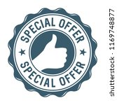 special offer vector label stamp | Shutterstock .eps vector #1169748877