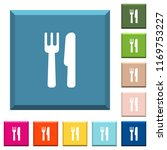 cutlery white icons on edged... | Shutterstock .eps vector #1169753227