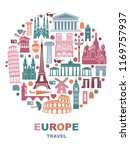 collection of europe detailed... | Shutterstock .eps vector #1169757937
