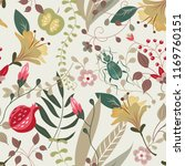 embroidery exotic floral... | Shutterstock .eps vector #1169760151