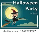halloween background with young ... | Shutterstock .eps vector #1169771977