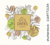 background with date fruit ... | Shutterstock .eps vector #1169772154