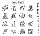 data icon set in thin line style | Shutterstock .eps vector #1169772271