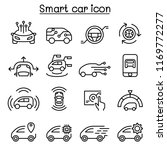 smart car icons set in thin... | Shutterstock .eps vector #1169772277