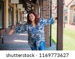 portrait of attractive plus... | Shutterstock . vector #1169773627