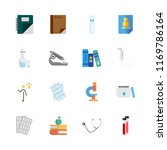 science vector icons set.... | Shutterstock .eps vector #1169786164