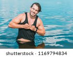 muscular young athletic sexy... | Shutterstock . vector #1169794834